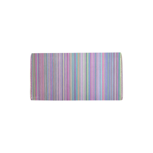 Broken flat screen TV rainbow stripe Women's Trifold Wallet (Model 1675)