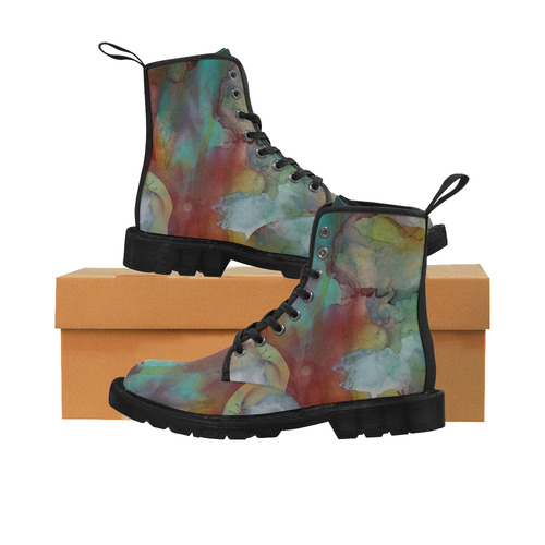 Abstract#3b Martin Boots for Women (Black) (Model 1203H)