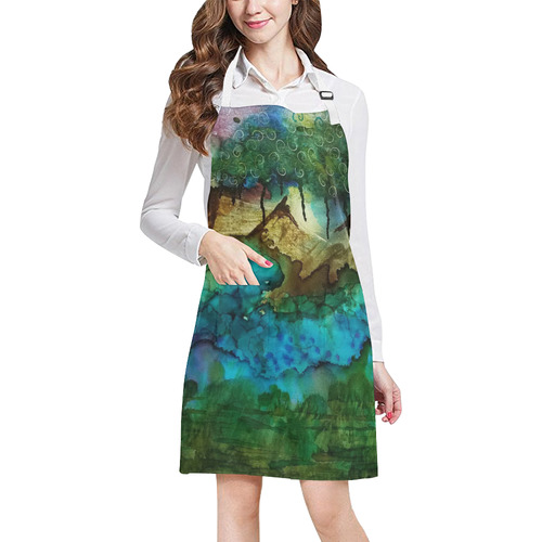 Nightscape#1 All Over Print Apron