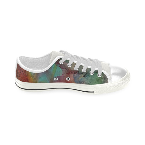 Abstract#3b Low Top Canvas Shoes for Kid (Model 018)