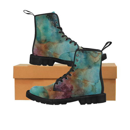Abstract#1b Martin Boots for Women (Black) (Model 1203H)