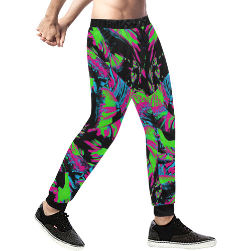 80s Blacklight Men's All Over Print Sweatpants (Model L11)