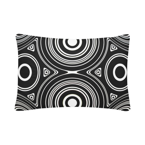"Concentric Circle Pattern Custom Pillow Case 20""x 30"" (One Side) (Set of 2)"