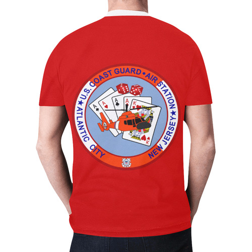 Coast Guard Air Station Atlantic City New All Over Print T-shirt for Men (Model T45)