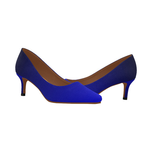 0a9c966e2 ... Royal Blue and Black Ombre Women's Pointed Toe Low Heel Pumps (Model ...