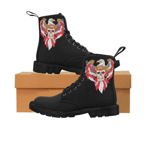 46375c29fb0 American Eagle Sugar Skull Martin Boots for Women (Black) (Model 1203H)