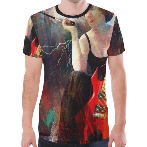 Self Portrait - Dianne Meinke New All Over Print T-shirt for Men (Model T45)