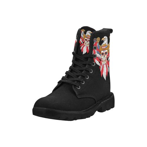 3f7634e624e American Eagle Sugar Skull Martin Boots for Women (Black) (Model 1203H) |  ID: D2320664