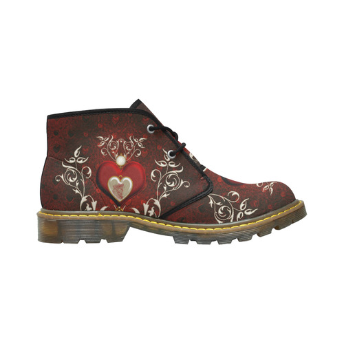 Valentine's day, wonderful hearts Women's Nubuck Chukka Boots (Model 2402)