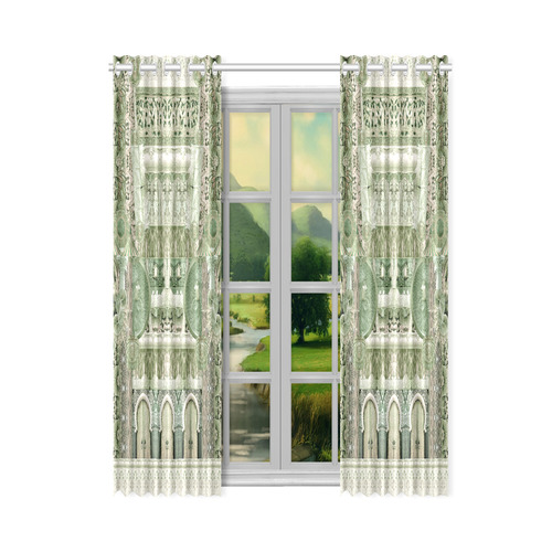 "art nouveau 11 New Window Curtain 50"" x 84""(One Piece)"