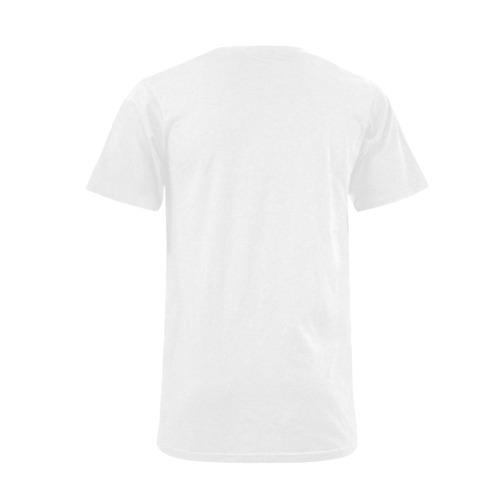 Savage Supreme Mens White T-Shirt Men's V-Neck T-shirt  Big Size(USA Size) (Model T10)