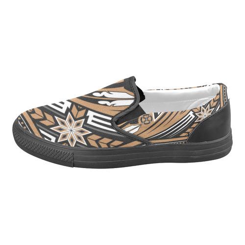 Wind Spirit (Brown) Slip-on Canvas Shoes for Men/Large Size (Model 019)