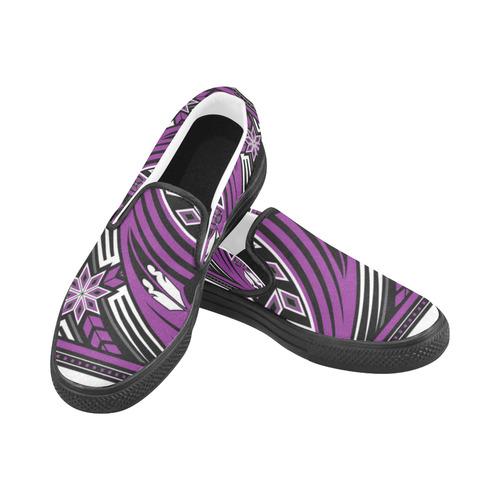 Wind Spirit (Purple) Slip-on Canvas Shoes for Men/Large Size (Model 019)
