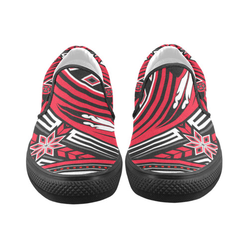 Wind Spirit (Red) Slip-on Canvas Shoes for Men/Large Size (Model 019)