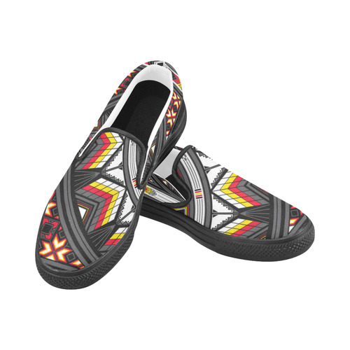 Sacred Places Red Slip-on Canvas Shoes for Men/Large Size (Model 019)