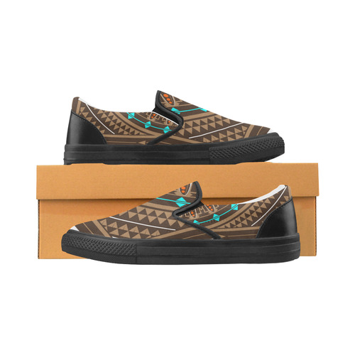 Wacipi (Pow Wow) Slip-on Canvas Shoes for Men/Large Size (Model 019)