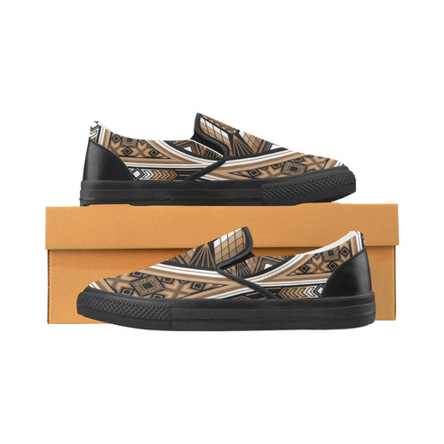 Sacred Places Brown Slip-on Canvas Shoes for Men/Large Size (Model 019)