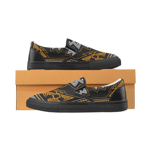 Thunderbird Slip-on Canvas Shoes for Men/Large Size (Model 019)