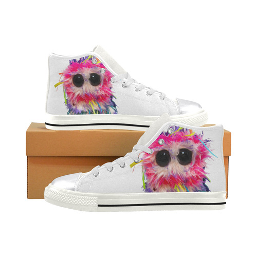Ferris Feathersby Women's Classic High Top Canvas Shoes (Model 017)