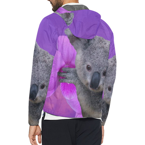 Koala and Orchid Unisex All Over Print Windbreaker (Model H23)