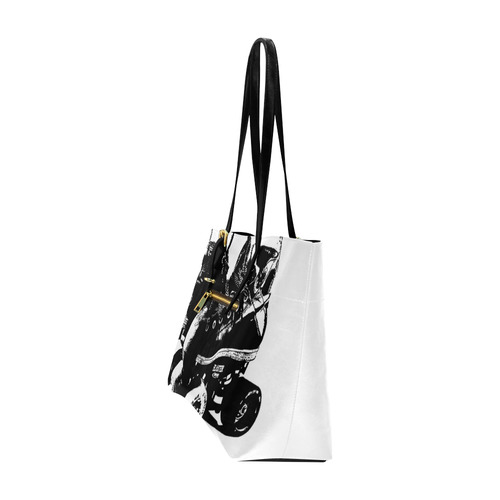 Skate Stamp PU Leather EA Tote Lg Euramerican Tote Bag/Large (Model 1656)