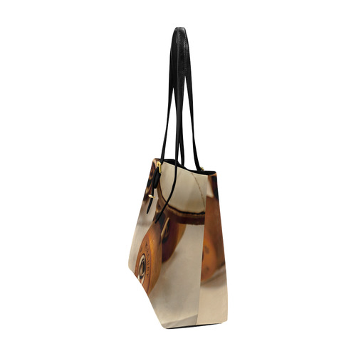 Classic Roller LG EA PU Leather Tote Euramerican Tote Bag/Large (Model 1656)