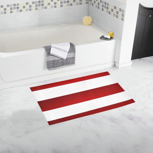 Red White Stripes Bath Rug 16 X 28 Id D2334696