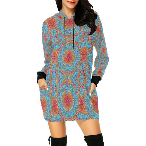 tapis  11 All Over Print Hoodie Mini Dress (Model H27)