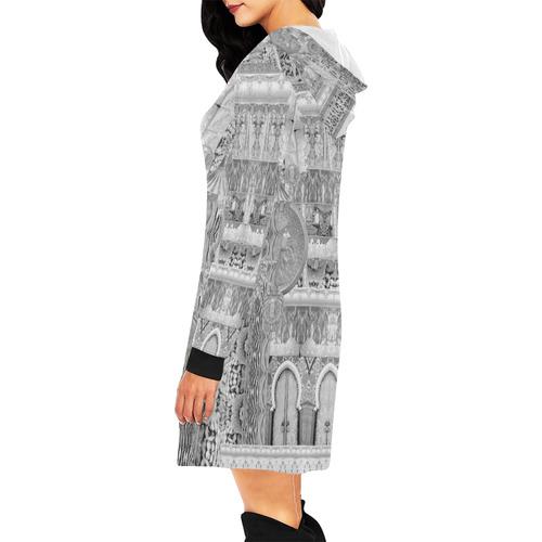 art nouveau 12 All Over Print Hoodie Mini Dress (Model H27)