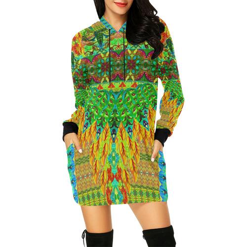 peru 5 All Over Print Hoodie Mini Dress (Model H27)