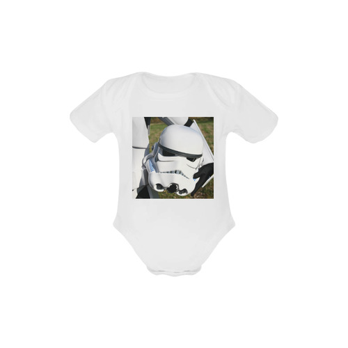 Future Trooper Baby Powder Organic Short Sleeve One Piece (Model T28)