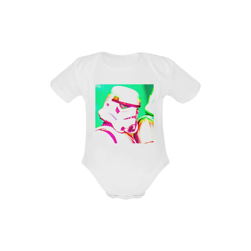 Stormie Pop Onesie Baby Powder Organic Short Sleeve One Piece (Model T28)