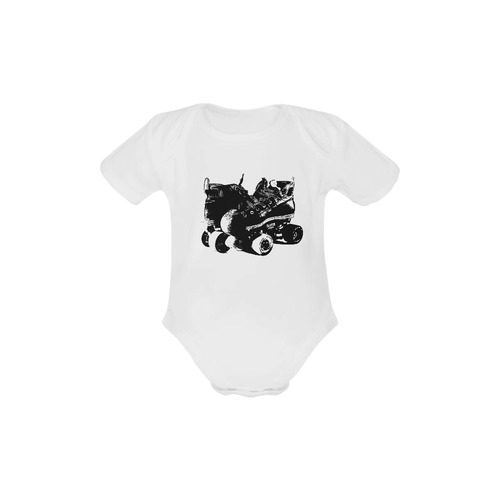 Future Roller Girl Onesie Baby Powder Organic Short Sleeve One Piece (Model T28)