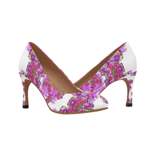 059ea6b3fb596 Happy Merry fantasy flowers Women's High Heels (Model 048)