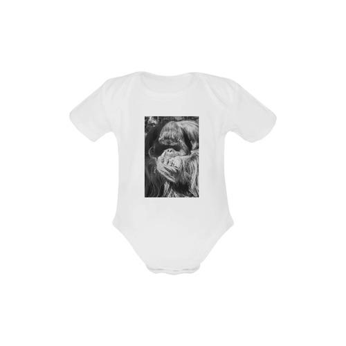 Orangutan Onesie Baby Powder Organic Short Sleeve One Piece (Model T28)
