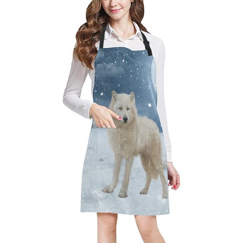 Awesome arctic wolf All Over Print Apron