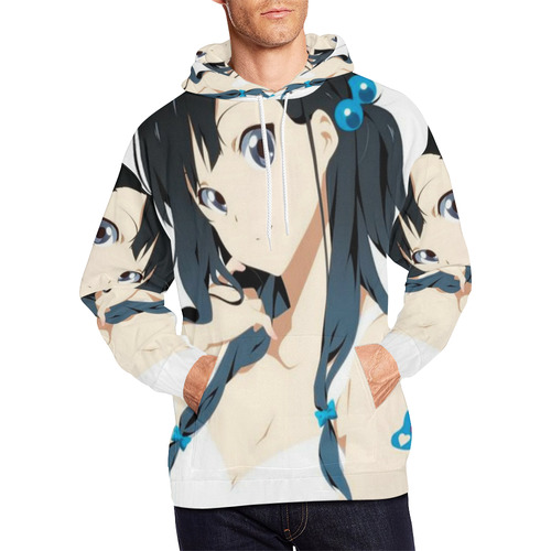 Anime Girl All Over Print Hoodie For Men Large Size Usa Size Model H13