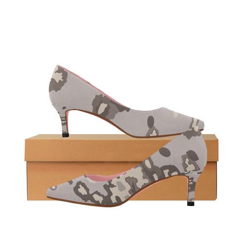 0e6ce1c86fca5 8-Bit Girl Camo Women's Pointed Toe Low Heel Pumps (Model 053) | ID:  D2346279