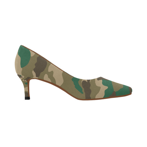 59af77e3a464 ... 053) Woodland Camo Girl Women s Pointed Toe Low Heel Pumps (Model ...