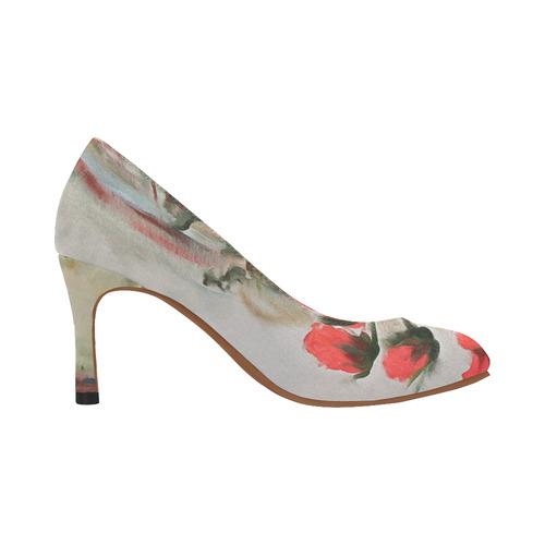 A Dozen Red Roses Women's High Heels (Model 048)
