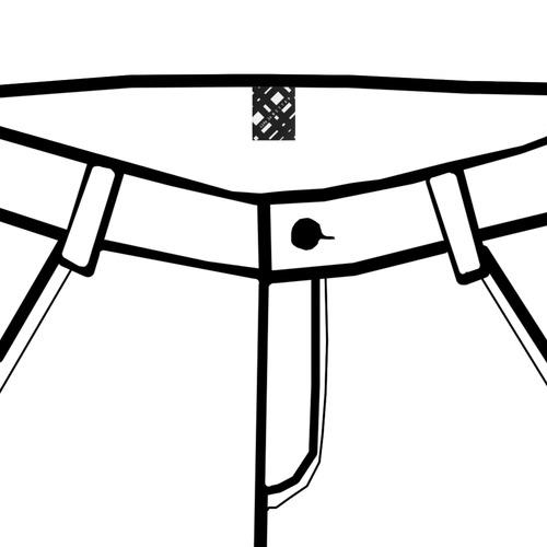 Bottoms tag Private Brand Tag on Bottom (4cm X 5cm)