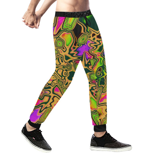 90s Color Splash Men's All Over Print Sweatpants (Model L11)