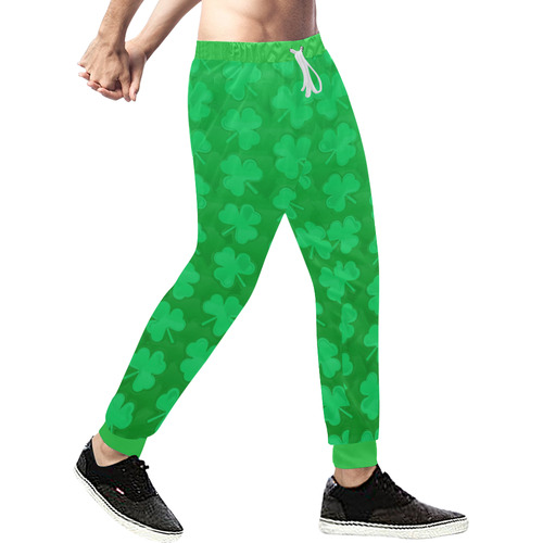 2e86b35b6 ... St. Patrick's Day Clovers Men's All Over Print Sweatpants (Model ...