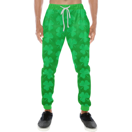 bffeffd4a St. Patrick's Day Clovers Men's All Over Print Sweatpants (Model L11) | ID:  D2353566