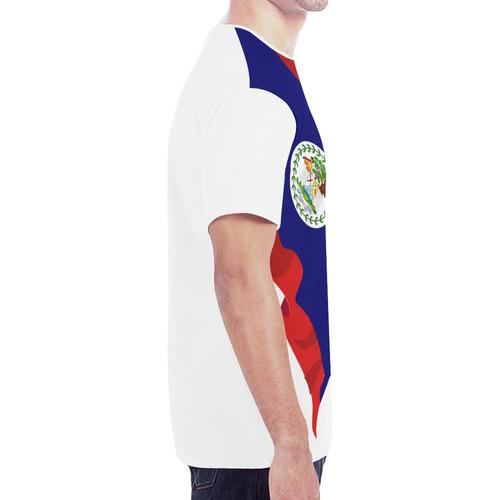 Belize Men's Classic Flag Tee 2.0 (White) New All Over Print T-shirt for Men (Model T45)