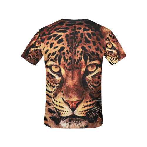 gepard leopard #gepard #leopard #cat All Over Print T-shirt for Women/Large Size (USA Size) (Model T40)