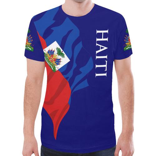 Haiti Men's Classic Flag Tee 2.0 (Blue) New All Over Print T-shirt for Men (Model T45)