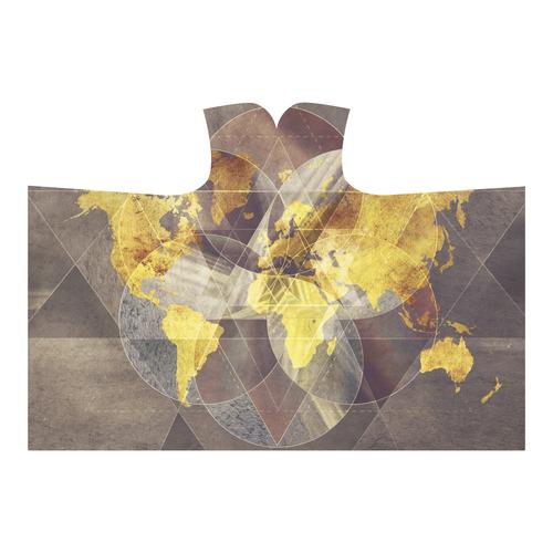world map Hooded Blanket 80''x56''