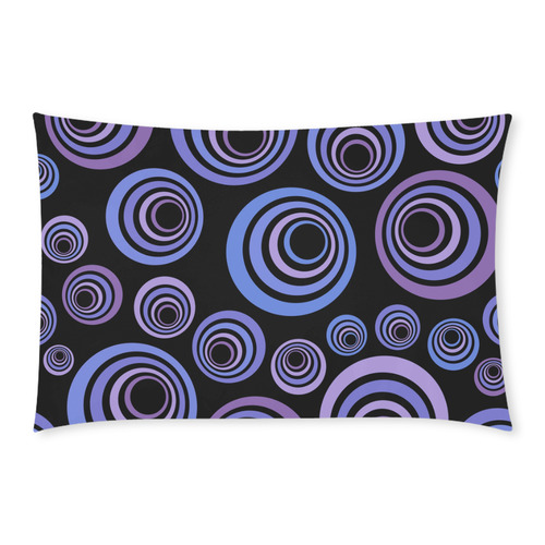 Retro Psychedelic Ultraviolet Blue Pattern 3-Piece Bedding Set