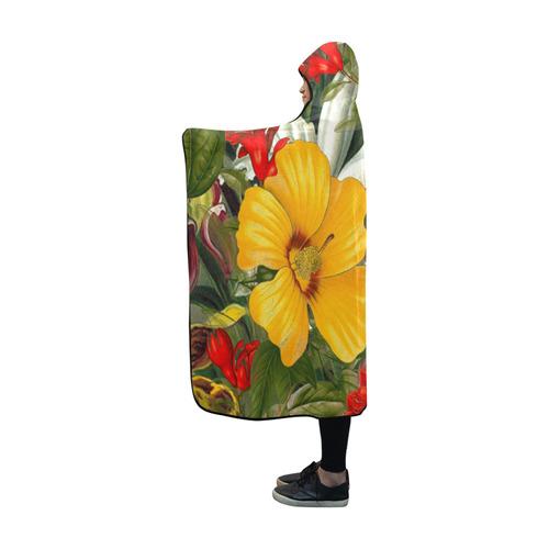 flora 1 Hooded Blanket 60''x50''